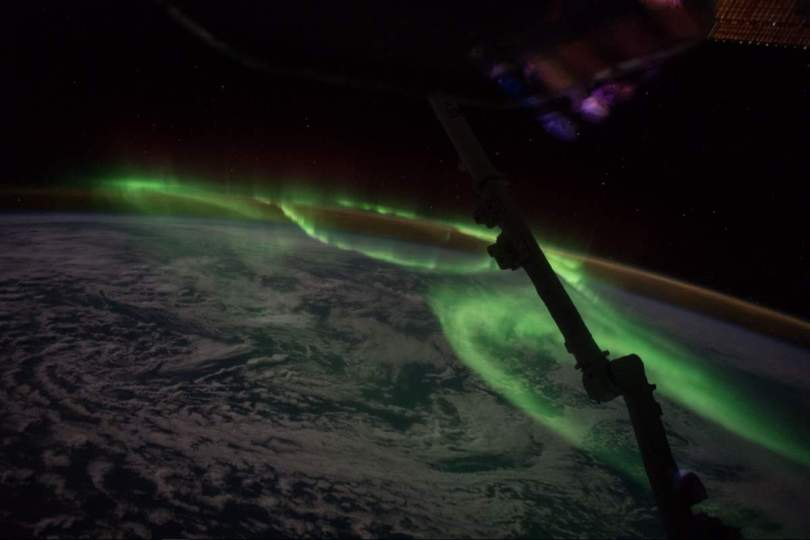 International Space Station - Aurora South of Australia (June 24, 2016)
