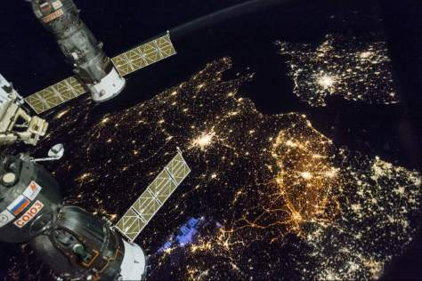 International Space Station, Western Europe at Night (November 28, 2016)