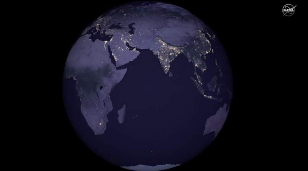Earth from Space at Night (NASA)