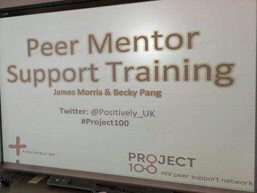 Project 100 training screenshot