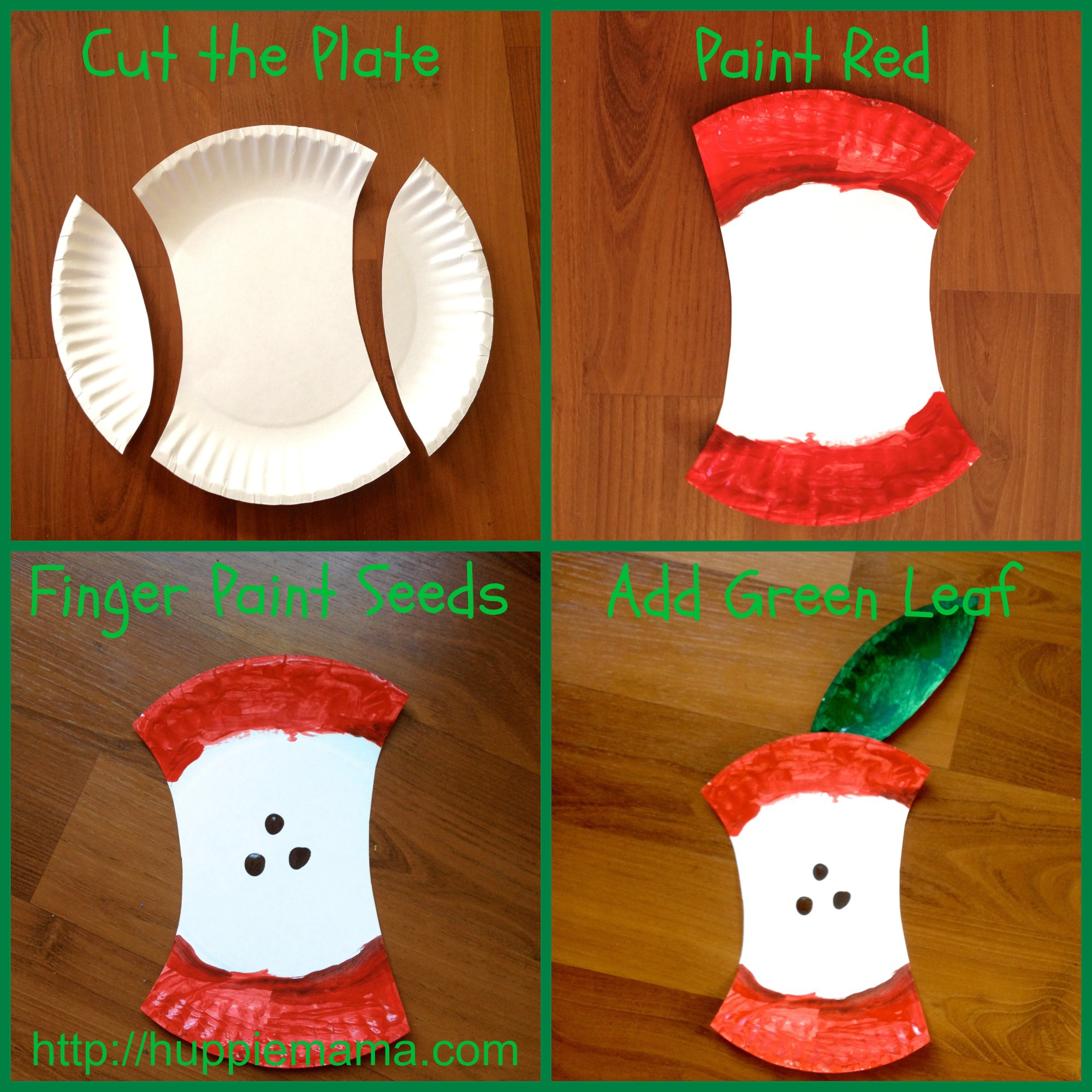 Food Craft Paper Plate Apple