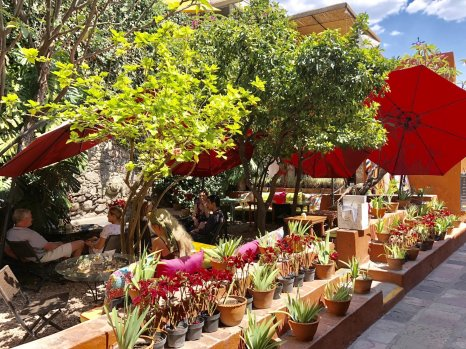 Fabulous courtyard at La Sacristia in San Miguel de Allende