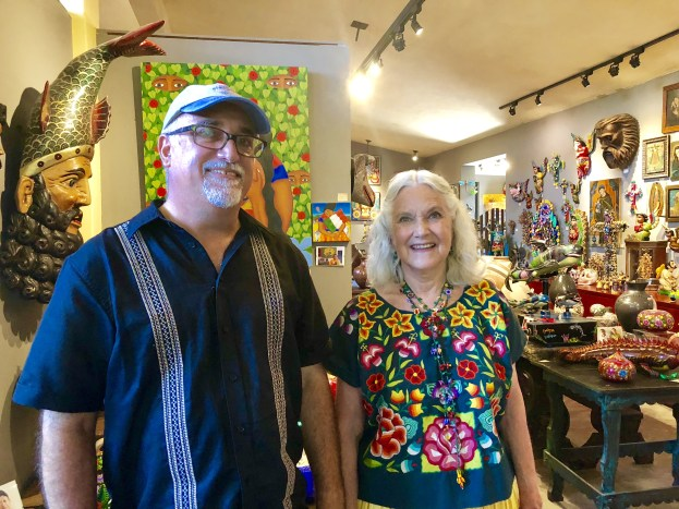 Glenn and Susan page at Galeria Atotonilco