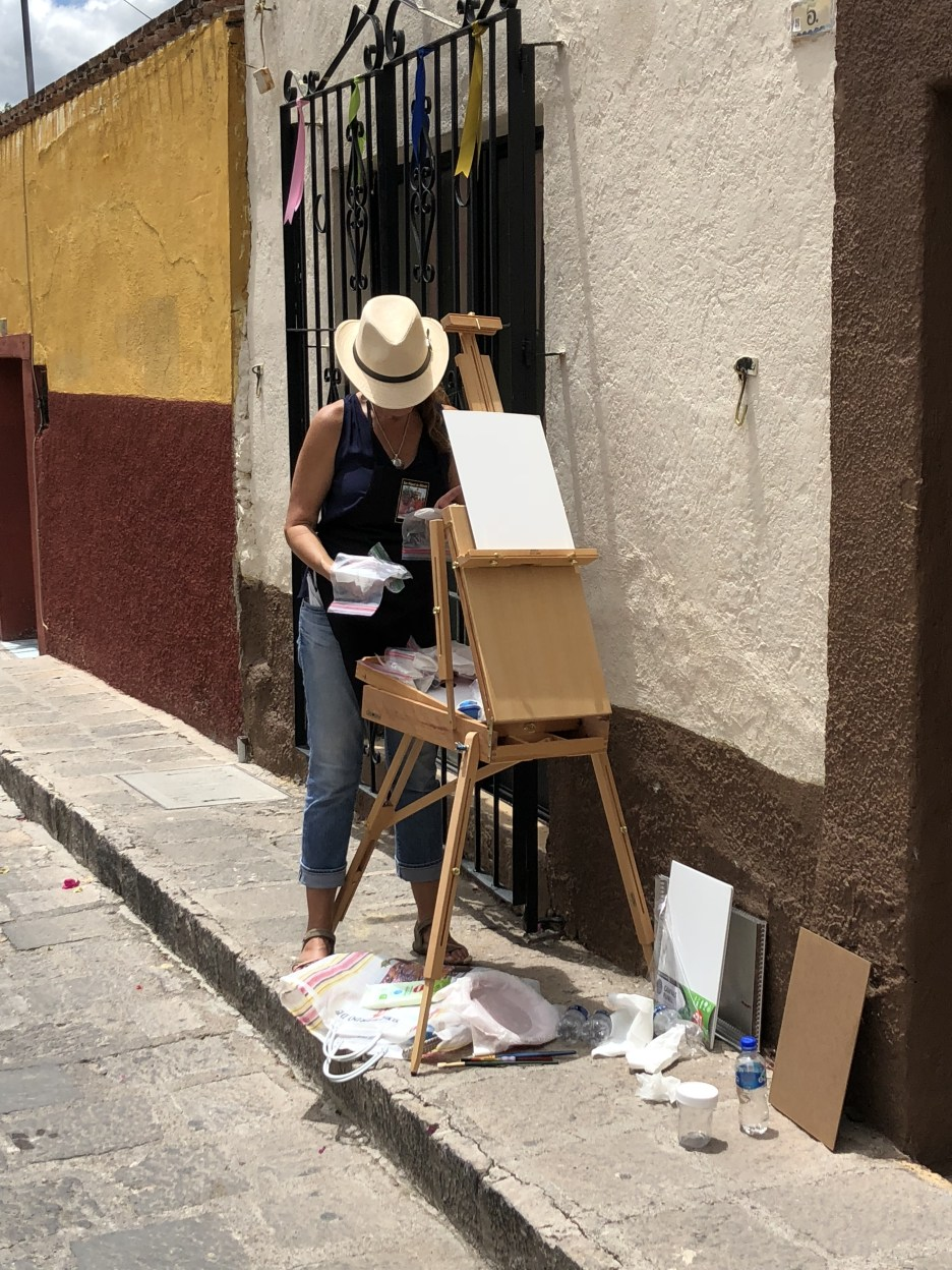 Painters on Calle Pueblito