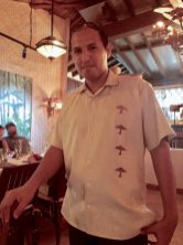 Our great waiter Hugo