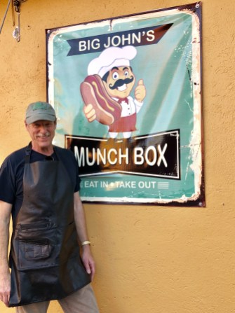 Big John's Munch Box for hamburgers!!