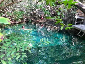 cenote at Clan-Destino