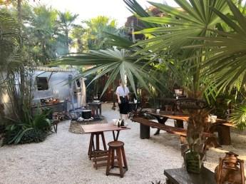 Safari and its Airstream kitchen