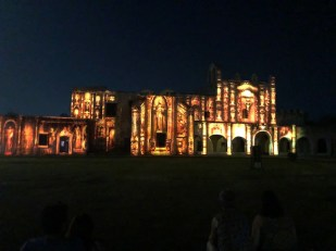 Video mapping on the Convent