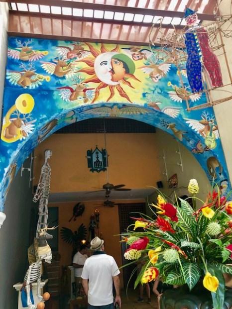 entry of Casa de Los Venados