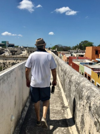 Along the wall in Campeche