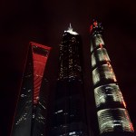 Lujiazui View at Night Shanghai Tower SWFC Jin Mao