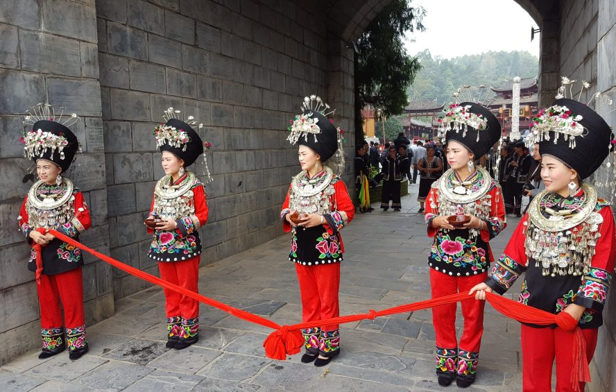 Miao Ethnic Minority Village Guizhou China
