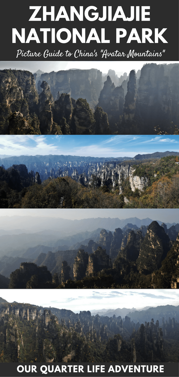 Zhangjiajie National Forest Park China Avatar Mountains Picture Guide