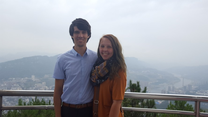 Sinan Guizhou China Overlook Couple
