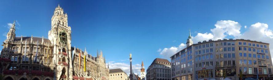 Marienplatz Square Munich Germany Ratshaus