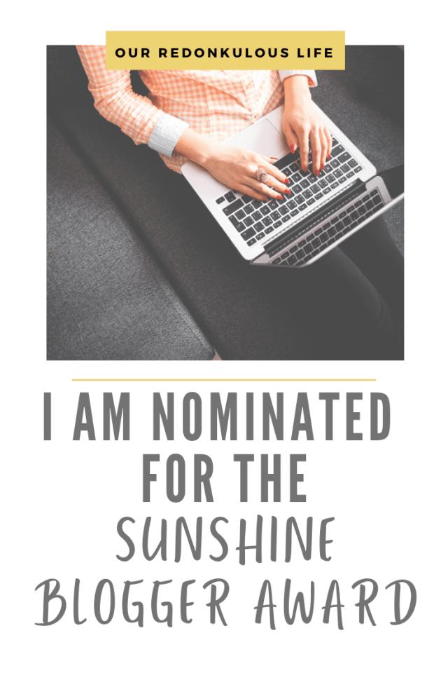 Sunshine Blogger Award for bloggers