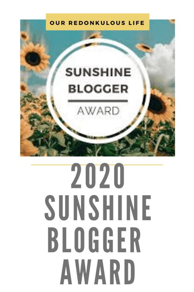 2020 Sunshine Blogger Award