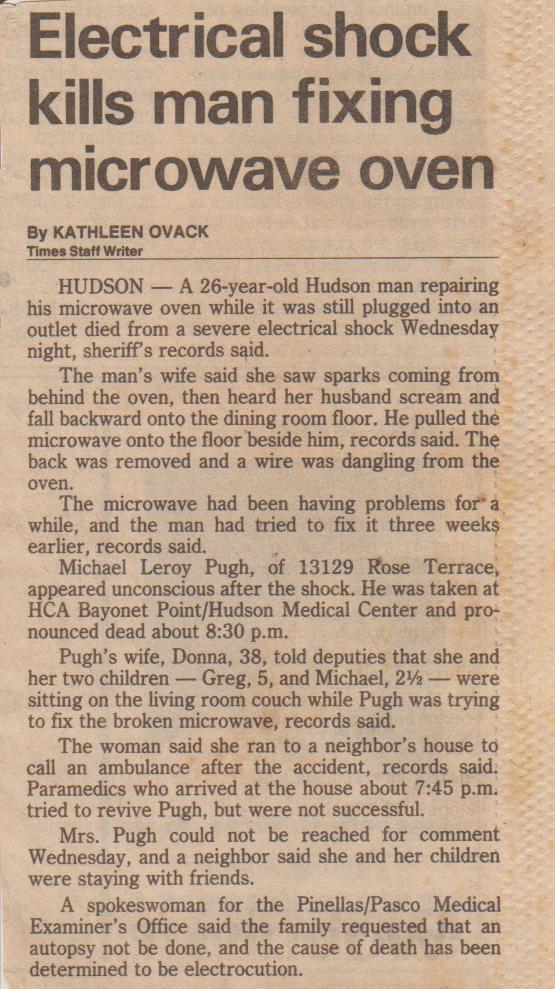 my dad's death