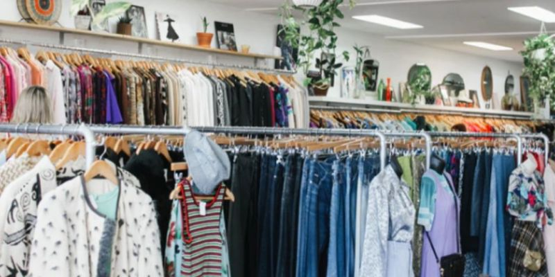charity shopping to avoid fast fashion