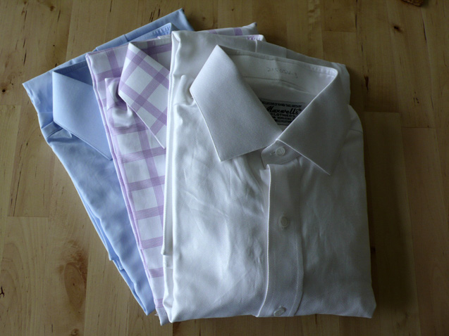 The three shirts from Maxwell's Clothiers.