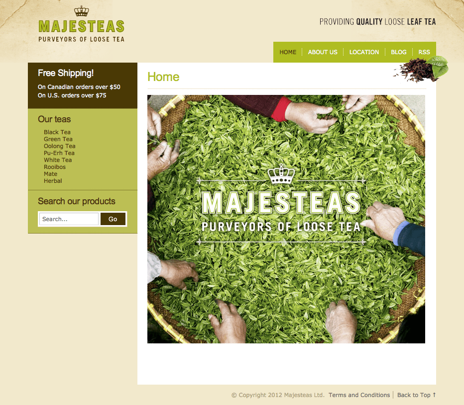 Magesteas Ltd. Homepage