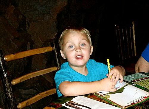 Landon at Rainforest Cafe