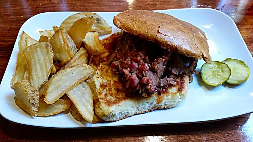 Famous Dave's Brisket Sandwich