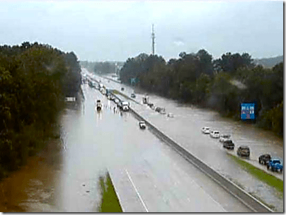 Flooding on I-12