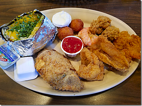 Catfish Cabin Combination Platter 2