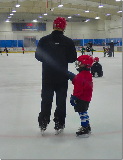 Hockey Kid blocking tag