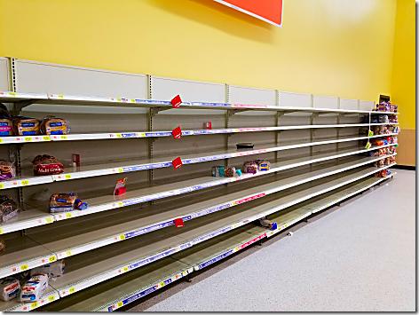 Wal-Mart Empty Shelf
