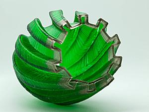 3D Molten Glass Vase