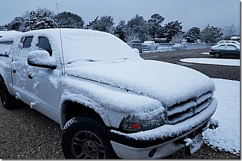 Snow on Truck