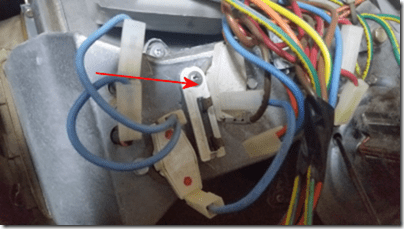 Dryer Thermostat in place