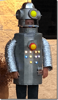 Landon Halloween 2018 Robot Costume