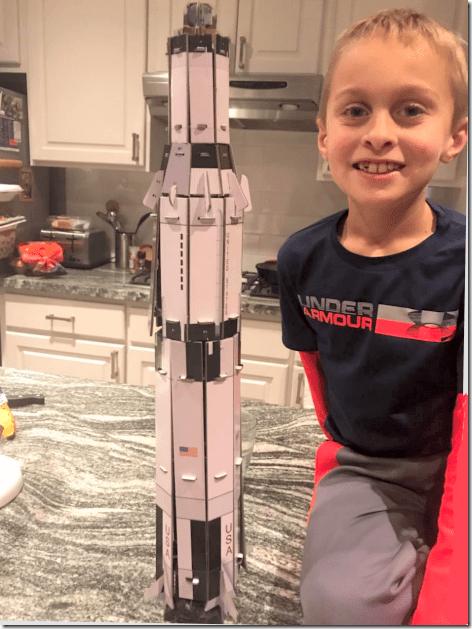 Landon and Smithsonian Rocket