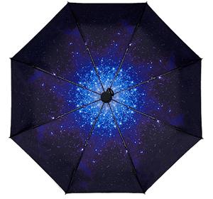 Compact Umbrella Starry Night