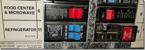 Refrigerator Circuit Breaker