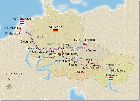 Viking Cruise Map