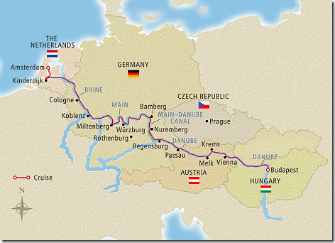 Viking Cruise Map