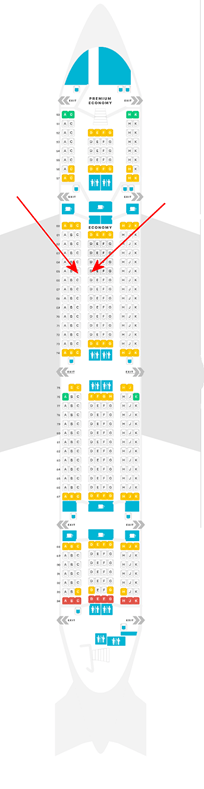 A380-800 Seating Chart