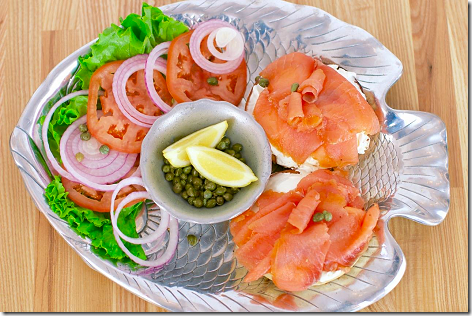Katz's Deli Bagel and Lox