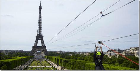 Eiffel Tower Zip Line
