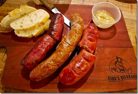 King's Bierhaus Sausage Sampler