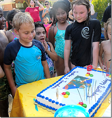 Landon's 9th Birthday Cake Cutting