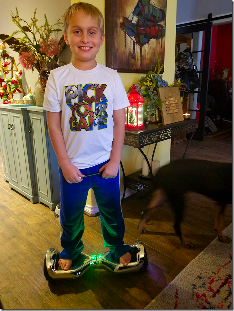 Landon's 2019 Christmas Hoverboard