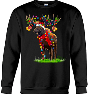 Moose Christmas Ornaments Sweat Shirt