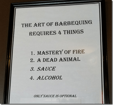 Art of BBQing Sign