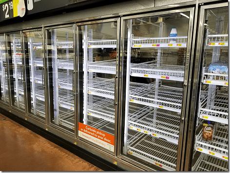 WalMart Bare Milk Shelf